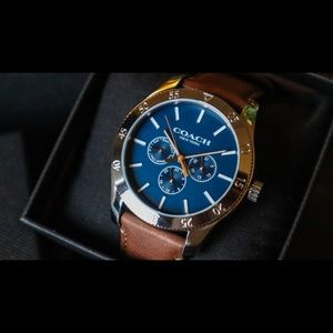 SALE TODAY Coach New York Mens BLUE Gorgeous Watch
